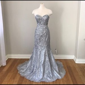 Silver sequin mermaid dress